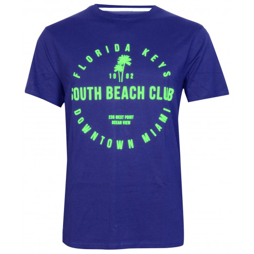 T- shirt Beach club print 2